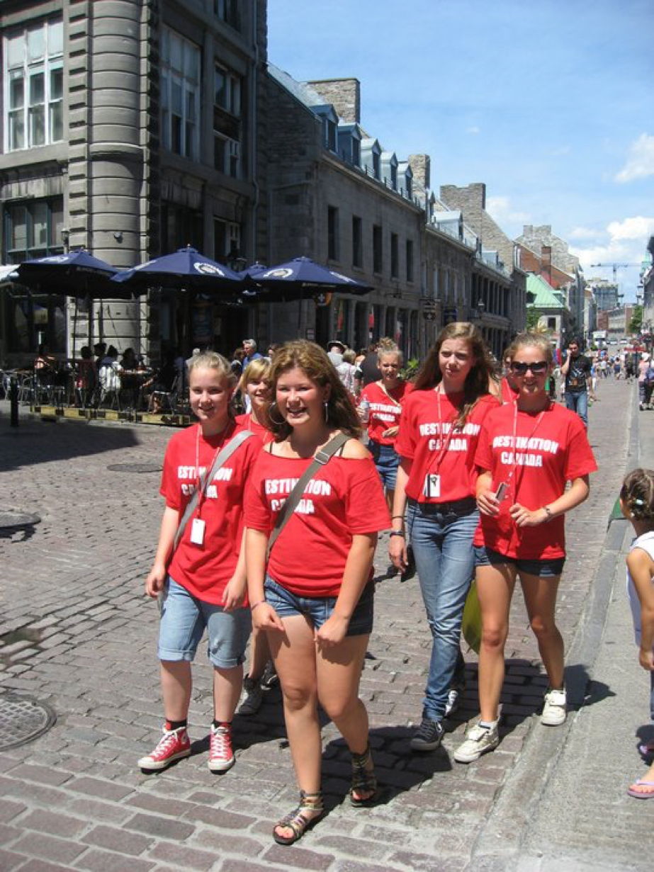 Destination Canada students travel from Ottawa to explore the historic Old Port of Montreal