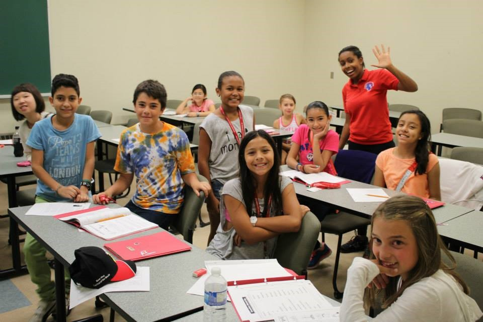 Destination Canada students hard at work in the ESL classroom